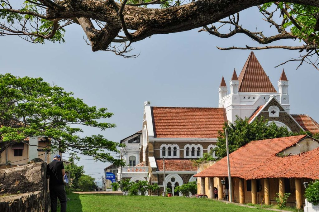 All Saints Church in Galle Fort Sri Lanka