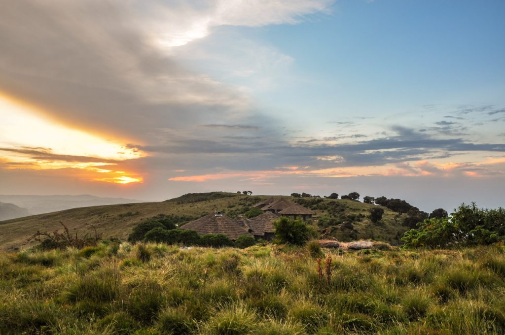 Simien Lodge at sunset