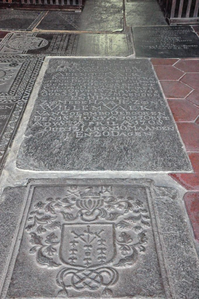 Galle Fort dutch church tombstones