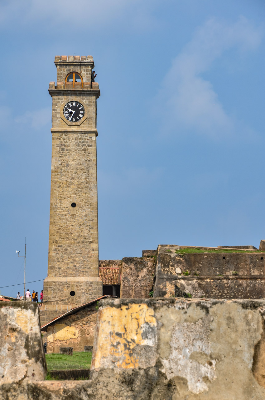 Galle Fort rampants clock tower Sri Lanka