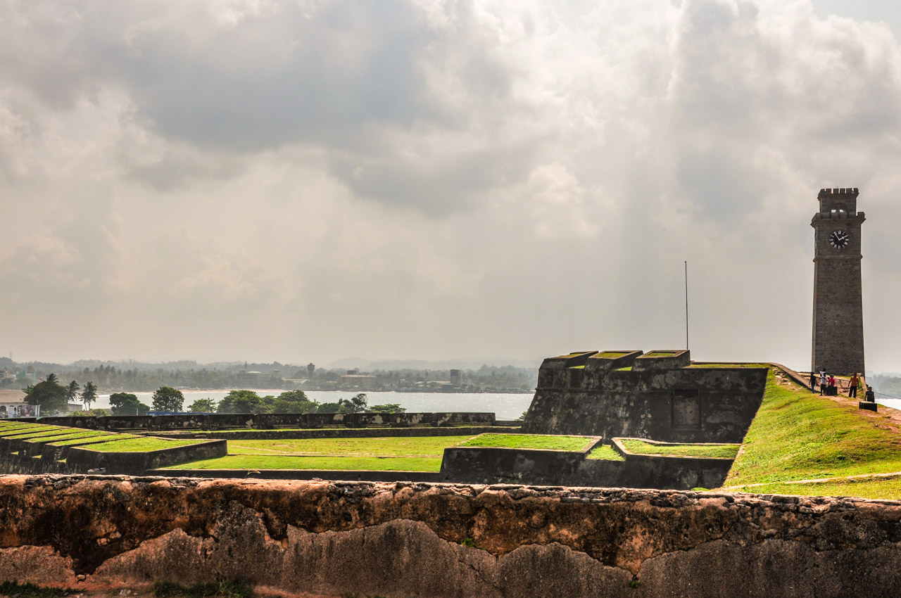 Moon Bastion and clock tower Galle Fort ramparts