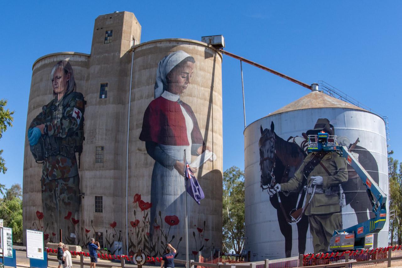 ANZAC silo art Devenish north east Victoria