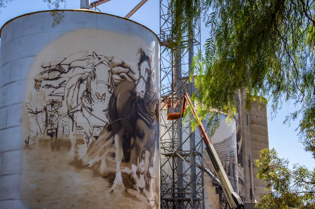 Silo art at St James in north east Victoria