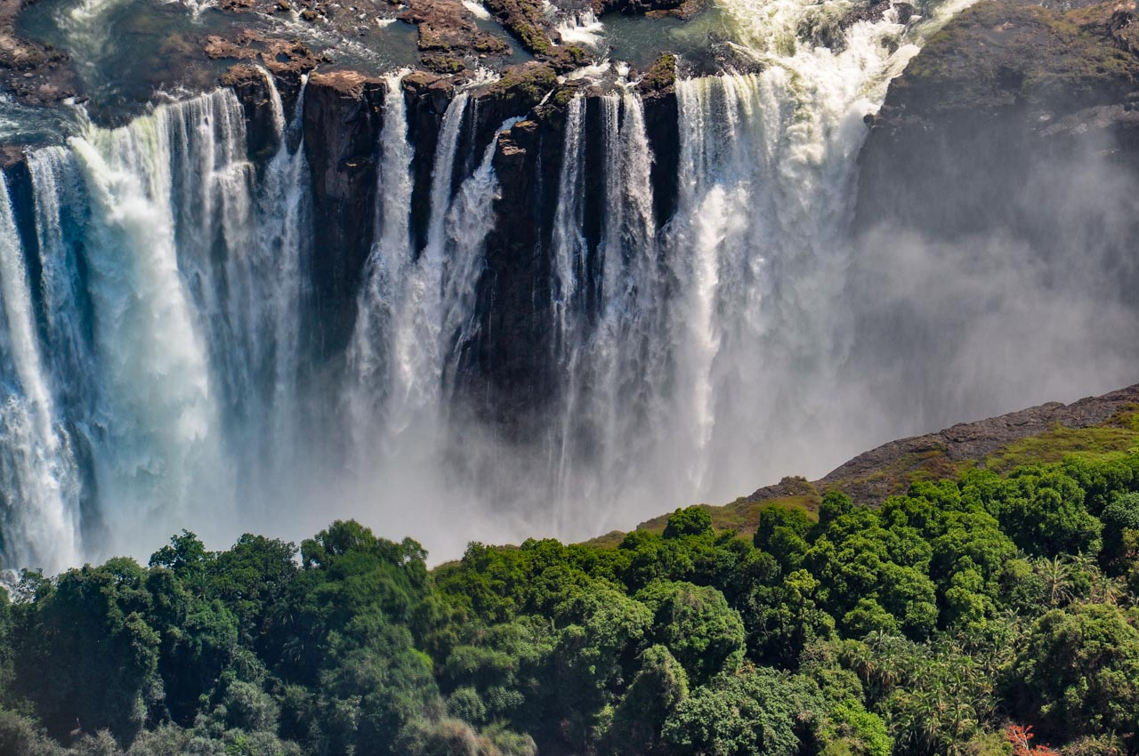 Helicopter sightseeing tour of Victoria Falls