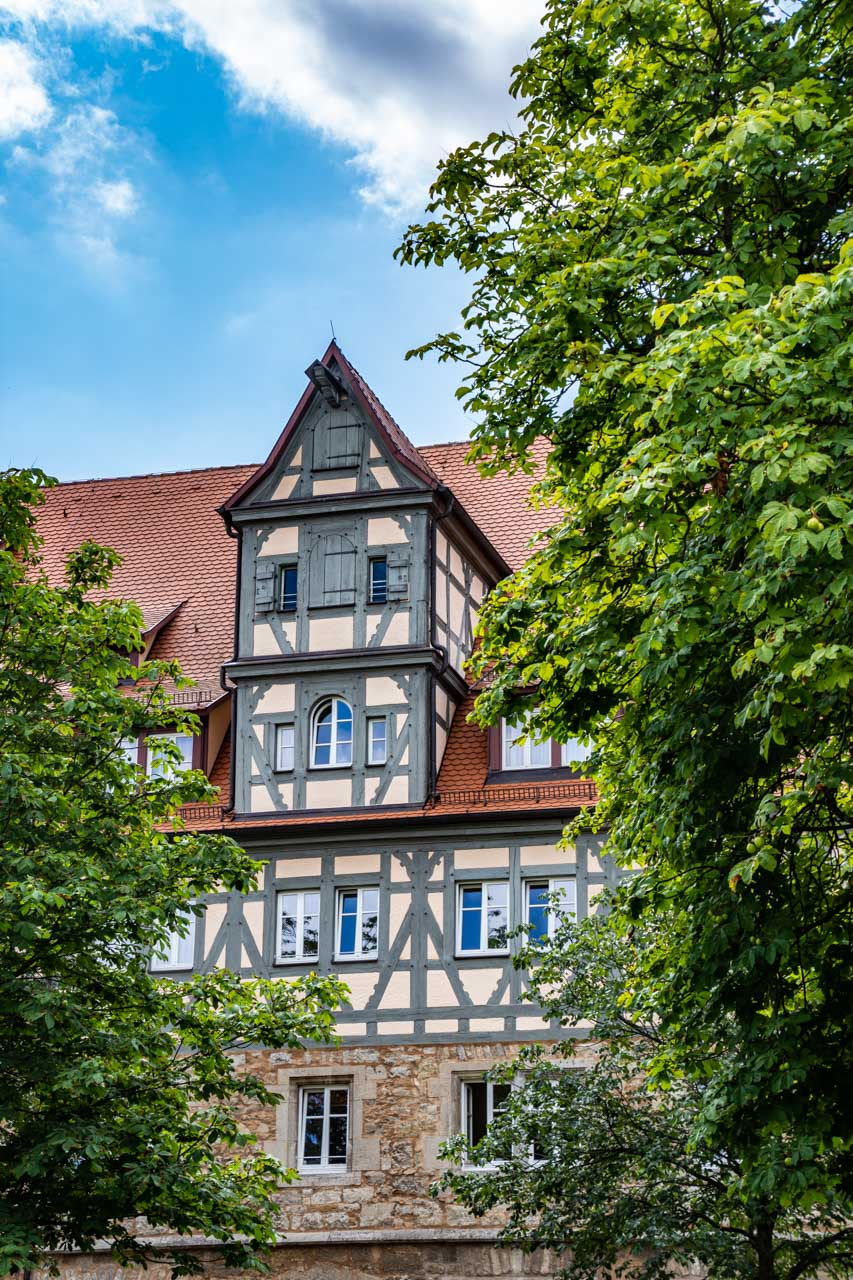 Rothenburg's medieval architecture - half-timbered house