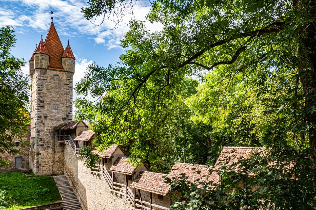 Rothenburg's medieval wall and tower