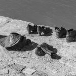 Shoes on the Danube riverbank