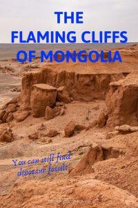 Ochre coloured cliffs