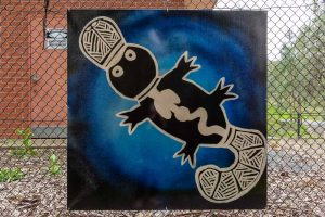 A painting of a platypus