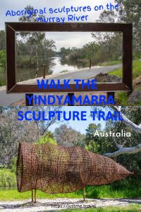 A photo of a fish trap, and a picture frame. Click on the image to open the blog post on a sculpture walk